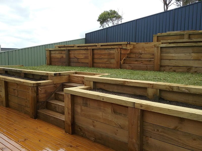 After retaining wall 2
