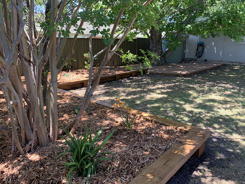 Garden Edging, Plants, Granite and Mulch After Image