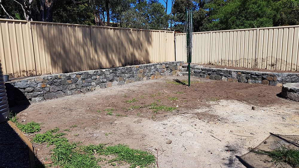 Stage 1 Stonewall and Firepit Construction After Image
