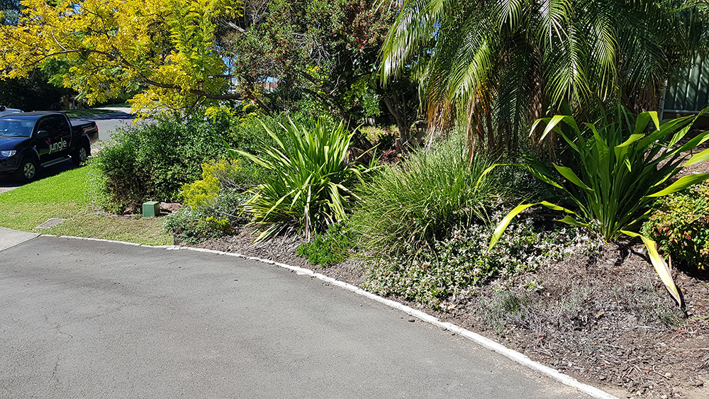 Block Edging, Garden Clean Up and Mulching Before Image